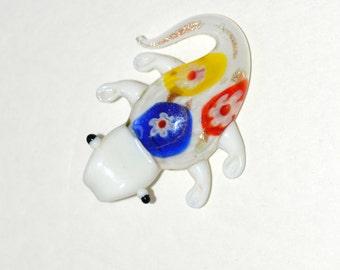 Gecko lampwork glass pendant red yellow blue white, Gecko lampwork glass pendant, Gecko pendent , lampwork pendant, pendant