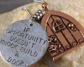 If Opportunity Doesn't Knock, Build a Door Necklace with Flat Door