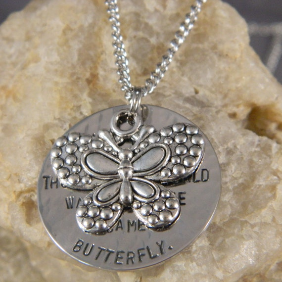 Butterfly Quote Necklace