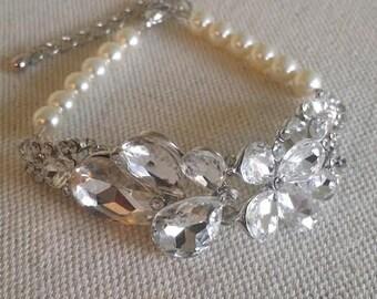 Wedding Bracelet, Crystal Bracelet, Bridal Bracelet