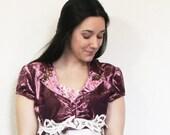 upcycled clothing . XS - S . bolero . keep believing