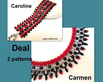 Tutorial Carmen&Caroline SuperDuo Tila Necklace and Bracelet PDF.2 patterns deal