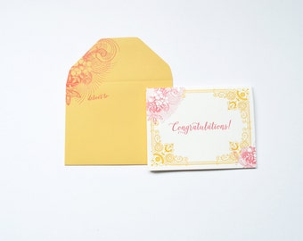 Ornate Congratulations Letterpress Greeting Card