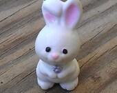 White Baby Bunny - white bunny toy - toy white rabbit - miniature rabbit - miniature bunny - dollhouse bunny - dollhouse pet