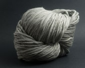 Pure Light Grey, HandSpun Naturally Grey Merino Single Yarn, Bulky, 1000 yards
