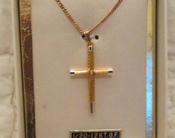 Vintage Creed Cross Necklace in origional box new vintage nos