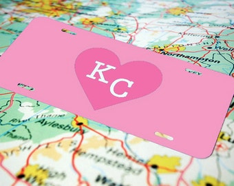 Kansas City Front License Plate for Women, Personalized License Plate Cute, Custom License Plate, Monogram License Plate, Name Art, KC