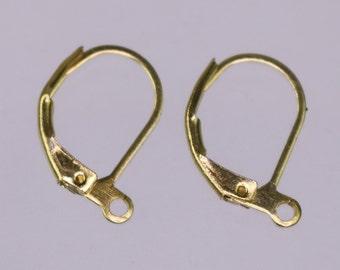 50 pcs raw Brass Bronze Leverback Earrings earwire - 16X10mm