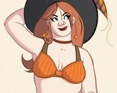 PATRICA Halloween 2015 Pumpkin Witch Paper Doll PRINT