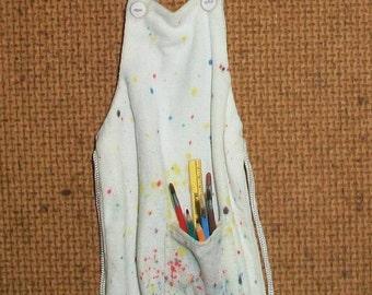 Miniature Artist Apron  1:12 scale