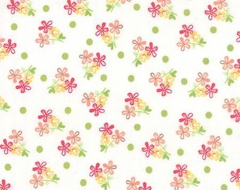 Moda Fabric - Prairie Floral with White Background by Cory Yoder - Little Miss Shabby for Moda - 29003 11 - Yardage