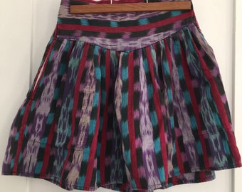 Ikat Print Mini Skirt