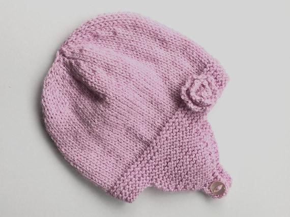 Baby Hat Knitting Pattern, Baby Earflap Hat PDF, Hat ...