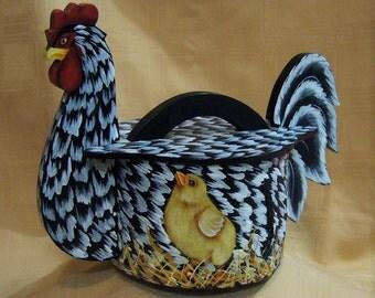 Chicken Norwegian Tine / Chicken Bent wood Box