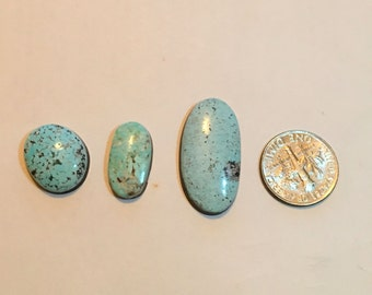 Natural Blue Ridge Turquoise Cabochons
