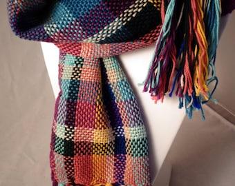 Plaid scarf - multicoloroed