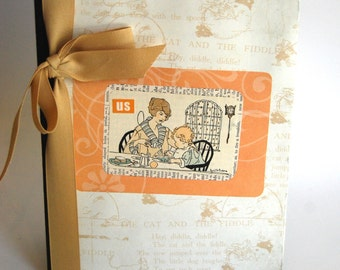 Upcycled Notebook, Journal, Family, New Baby