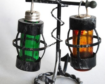 Vintage Salt and Pepper Shakers, Lanterns