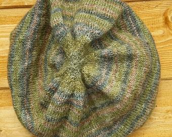 Green Woolen Stripey Hat