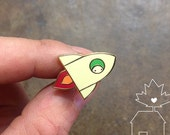 Rocket: 14k Gold Plated Lapel Pin