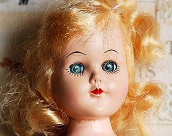 antique plastic doll with moving eyes, collectible, toy, home decor, coolvintage, UA