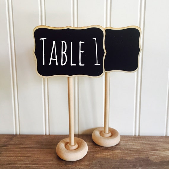 4 Mini Chalkboard Table Stands-FANCY Style-Buffet Labels, Chalkboard Signs, Wedding Chalkboards, Chalkboard Label Stands