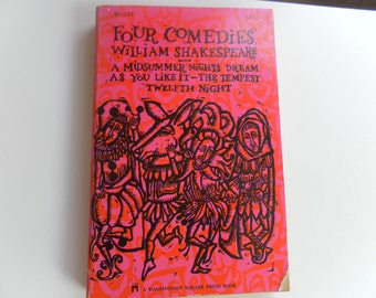 Four Comedies by William Shakespeare vintage paperback 1966