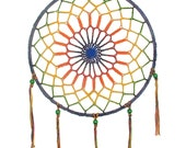 Rainbow Dreamcatcher Mandala Boho Hippy Dream Catcher Medium Size Dreamcatcher Mandala
