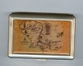 2 sided map of middle earth cigarette/card case
