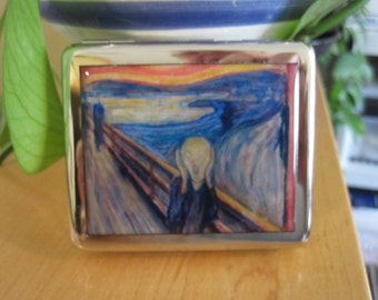 "Edvard Munch's ""The Scream""  8 Day Pill Box with Mirror"