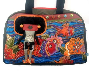 "Bag molly creative bag unique bag n2 ""Van Gogh""  laurel burch"