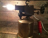 Vintage Electrified Blow Torch  (re-purposed)  Table Lamp | Desk Lamp | Steampunk Lamp | Industrial Lamp