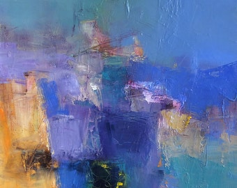 Small Box Painting 1148 - Original Oil Painting - 22.7 cm x 22.7 cm (app. 8.9 inch x 8.9 inch)