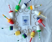 Key Chains, Maine Lobster Buoys, Wedding Favors, bright bold colors, set of 75, mixed colors, custom order