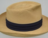 7 3/8 - Vintage Summer Men's Panama Hat - Made in Ecuador