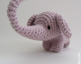 Crocheted Elephant - made from certified 100% organic cotton garn