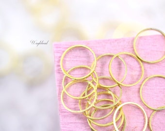 Circle Gold plated Brass Rings 10mm Link or Connector - 20 .