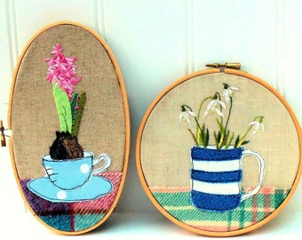 Signs of Spring Hoops downloadable pdf embroidery pattern