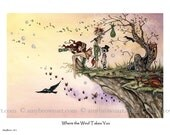 Where the Wind Takes You fairy 8.5x11 PRINT by Amy Brown