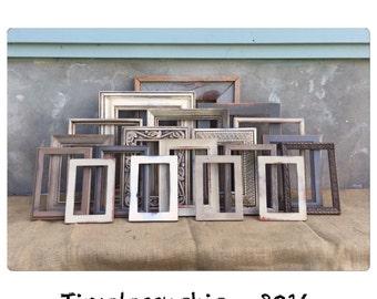 PICTURE FRAME - Picture Frames - Rustic Picture Frame - Wood Picture Frames - Reclaimed Wood Frame - Farmhouse Decor - CHIC