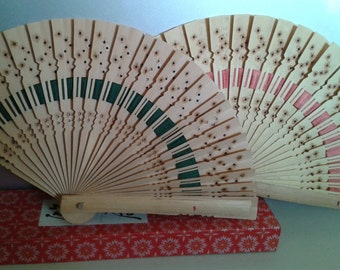 Japanese Decorative Fans - Handcrafted Bamboo