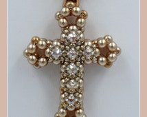 3D Cross with Montees Pendant PDF Jewelry Making Tutorial (INSTANT DOWNLOAD)