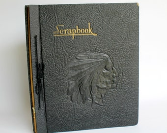 Vintage Scrapbook Album Native American Cover