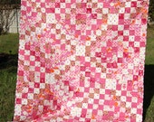 Scrappy Pink Quilt - Full/ Queen Size