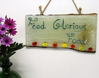Food glorious food  kitchen painting, Wall  Holder , Accessories, Decor, Gift  Home, Housewarming Gift, Wedding Gift מוכן לפרסום