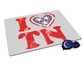 I Love Tennessee - Tempered Glass Bar & Kitchen Cutting Board