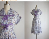 SPRING CLEARANCE. spring meadow dress / 1950s dress / 50s dress