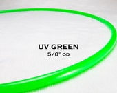 """5/8"""" UV Glowing Green Polypro Hula Hoop with 6 Month FREE Replacement Warranty!"""