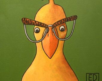 203 Bird - folded art card 15x15cm/6x6inch with envelope