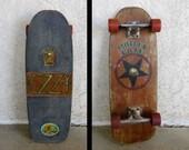 """Vintage 1980 Powell Peralta Skateboard with custom """"Ozzy"""" and """"Mötley Crüe"""" Art."""